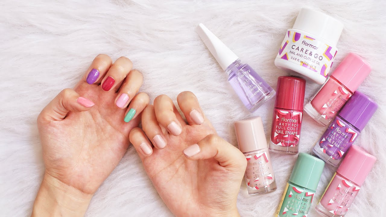 Flormar Arty Pop Nail Polish Swatch Review Youtube