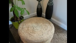 DIY DOLLAR TREE BRAIDED OTTOMAN/STOOL