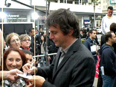 Jack Davenport signing photo for fans at the premier of prince of persia.