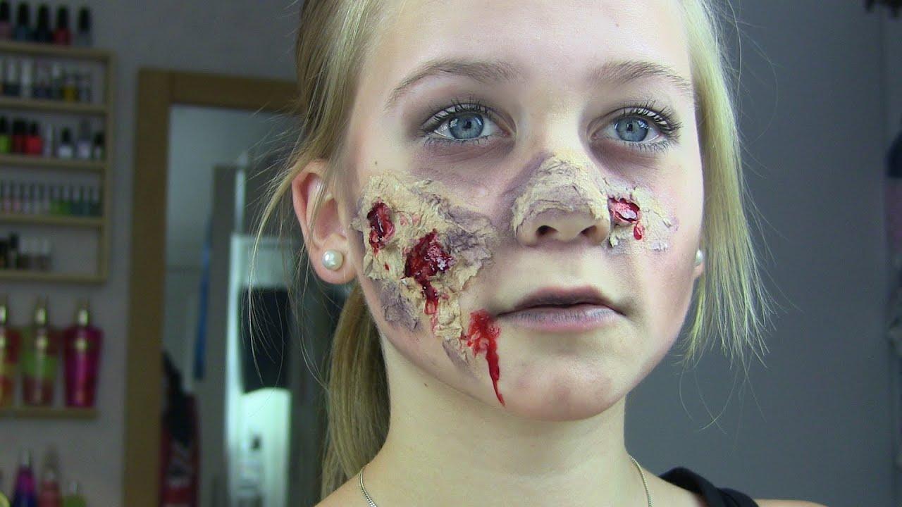 Zombie Halloween Makeup Tutorial - YouTube