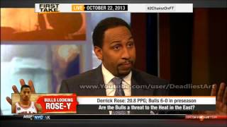 ESPN First Take | How big a threat is Derrick Rose to LeBron James? - ESPN Sport First Take