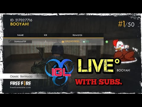 IGL FREE FIRE LIVE GAME PLAY WITH SUBSCRIBERS ( POTTS28)