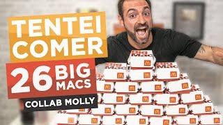Desafio dos 26 BIG MACS McDonald's!!! (colab com Molly Schuyler) [Especial 900k]
