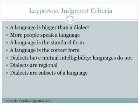 """The Difference Between a """"Language"""" and a """"Dialect"""""""