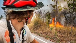 Cycling Through WILDFIRES in Thailand's Countryside [Ep.5]