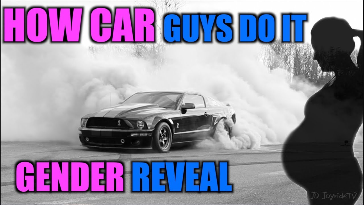 Gender Reveal Burnout With Colored Smoke Tires Youtube