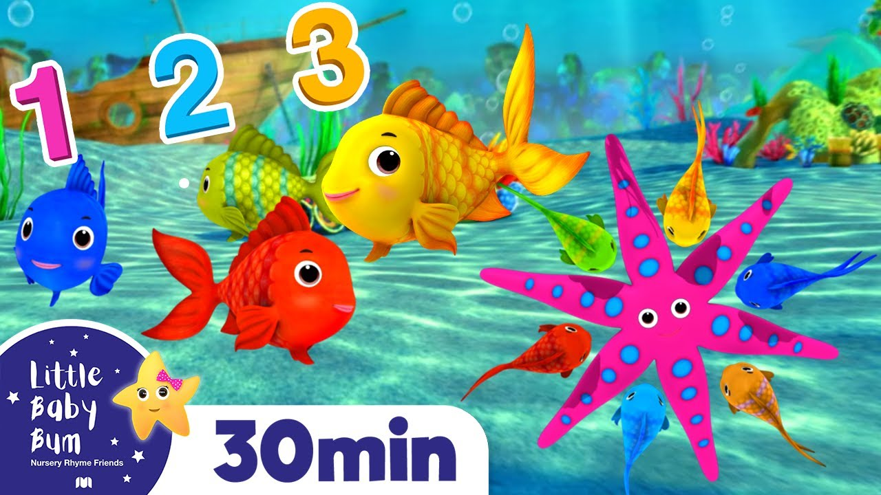 Learn How to Count Fishes Songs | Best Baby Songs | Kids Cartoon | Nursery Rhymes | Little Baby Bum