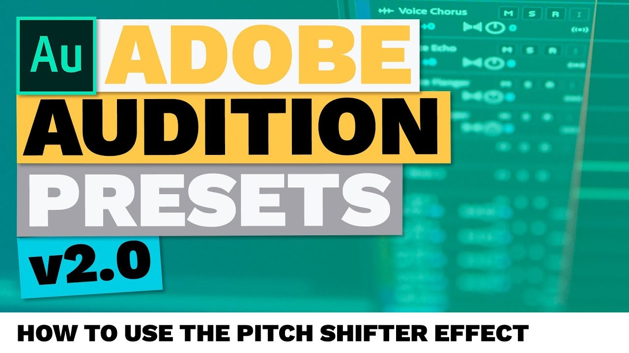 how to use the pitch shifter effect adobe audition presets youtube. Black Bedroom Furniture Sets. Home Design Ideas