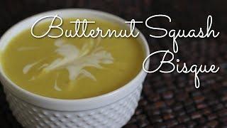 Vegan Butternut Squash Bisque Soup
