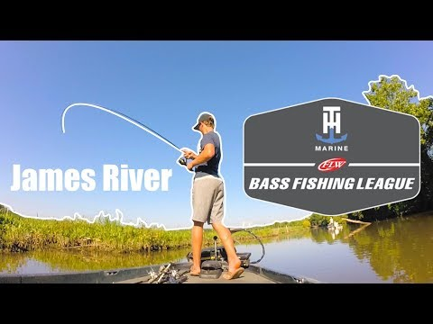Making The Same Cast For 3 HOURS!!! | Tidal Bass Fishing The James River - FLW BFL Tournament