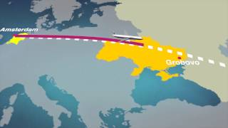 Tracking the flight path of MH17