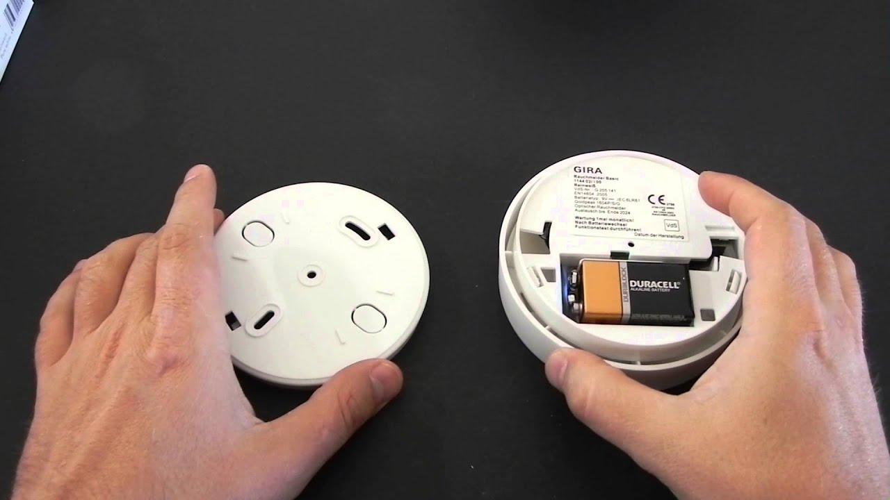 gira basic vds rauchmelder test youtube. Black Bedroom Furniture Sets. Home Design Ideas