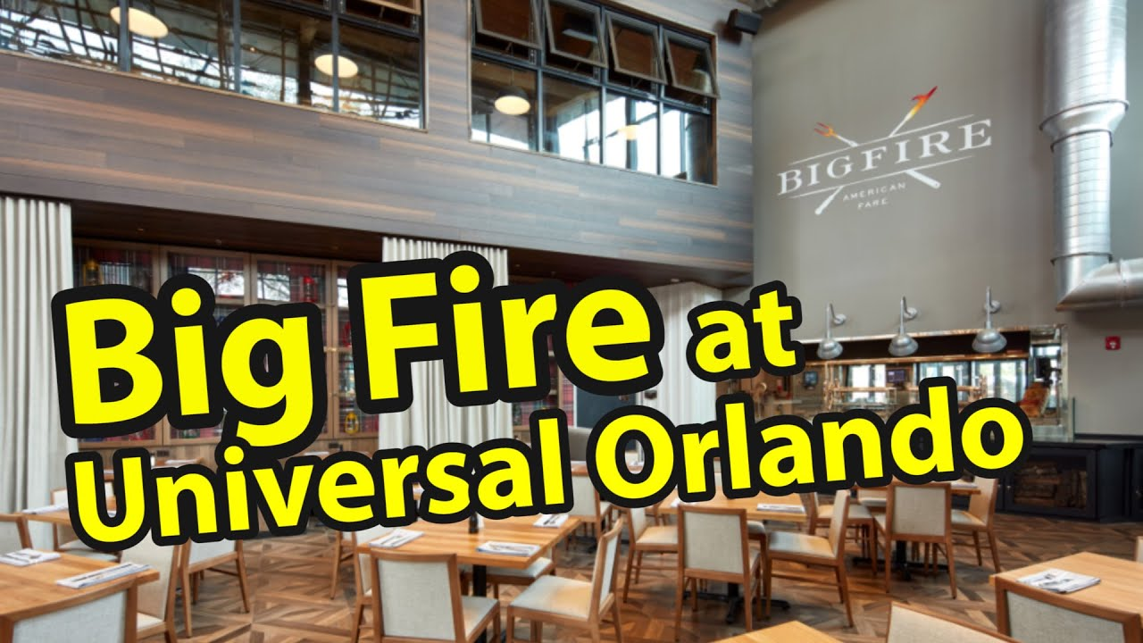 Big Fire at Universal Orlando CityWalk | Restaurant Review