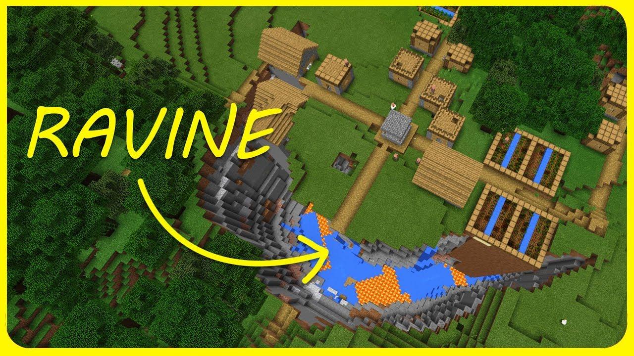 Minecraft 12 Seeds Best Ravine Village Seeds Best Seeds For Mcpe Xbox Windows 10