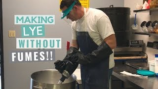How to Mix Lye With NO Fumes - Cold Process Soap Making Tip