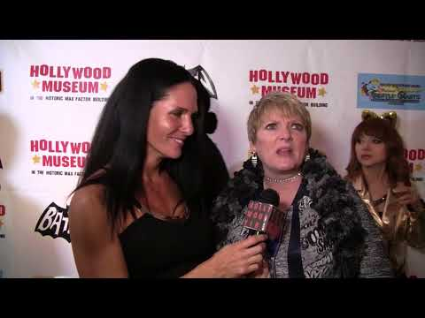 Traci Lynn Cowan with Alison Arngrim at the Grand  of the Batman TV  Display