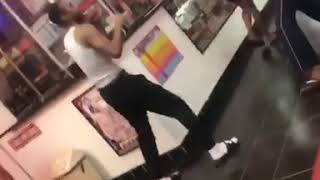 Hilarious fight in a hood movie store