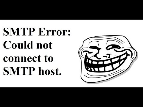 SMTP Error: Could not connect to SMTP host -- FIX