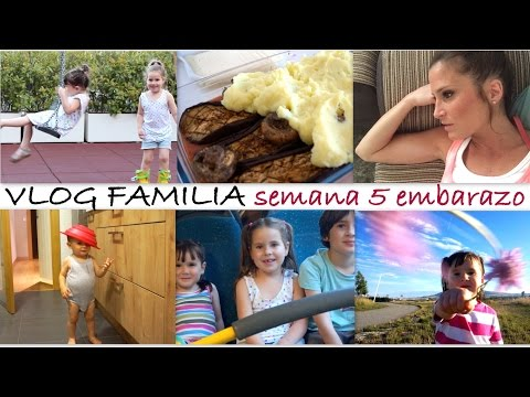 VLOG FAMILIAR semana 5 embarazo gemelar/ Virus, pastel de berenjena y champiñón