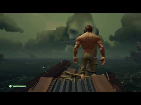 Attacking a Skeleton Fort with a full Crew - Sea of Thieves final Beta