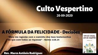 FORMULA DA FELICIDADE - DECISÕES - Salmo 119.9-16