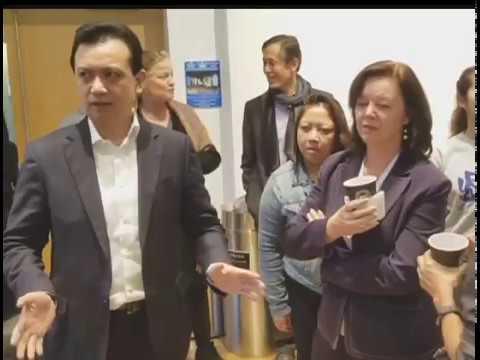 Philippine Senator Antonio Trillanes in New York on official US visit