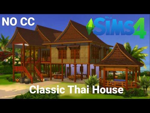 Classic Thai House บ้านเรือนไทย | Sims 4 | Stop-Motion