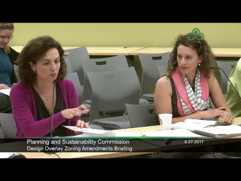 Planning and Sustainability Commission 6-27-2017
