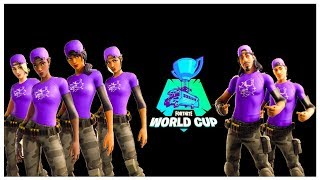 "PLAYING WORLD CUP DUO TO ENSURE * POSSIBLE * UNIQUE SKINS ""! Fortnite"
