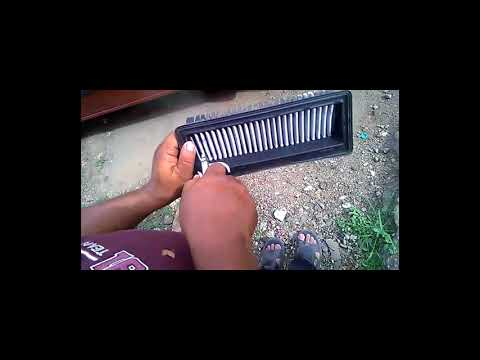 How to clean CAR Air Filter  (English)