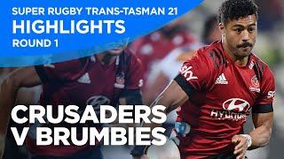 Crusaders v Brumbies Highlights | Round 1 | Super Rugby Trans-Tasman 2021