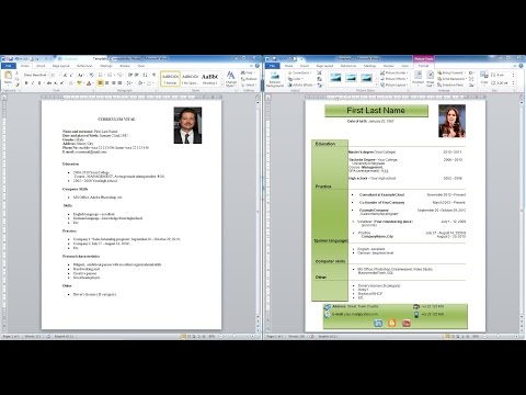 How to create CV | Download templates,formats | Como hacer un curriculum