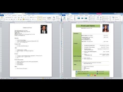 How to create CV | Download templates,formats | Como hacer un curriculum