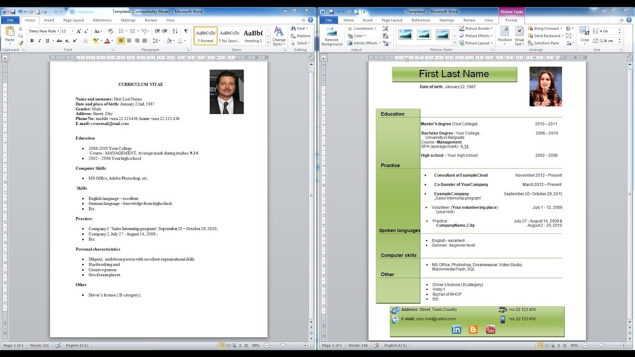 How To Make A Resume For Free Without Using Microsoft Office AddictiveTips  Imagen Titulada Create A