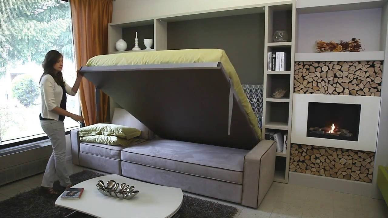 Storage wall bed milano smart living youtube for Italian wall bed system