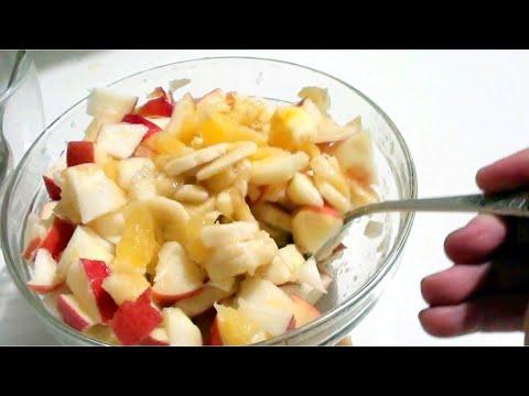 Фруктовый салат. Десерт. видео рецепт