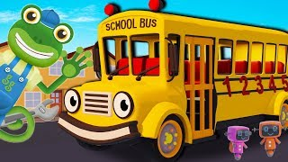 Sammy The School Bus Visits Gecko's Garage | Bus Videos For Children | Educational Cartoons For Kids