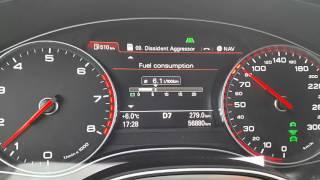 Audi A6 C7 3,0TFSI fuel consumption test 50/80/120...