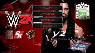 WWE 2k16 Mod (WR3D MOD) V2 Android (Root)