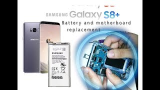 DIY Samsung S8+ S8 Plus (SM-G955F) Battery and motherboard replacement / How to Disassembly