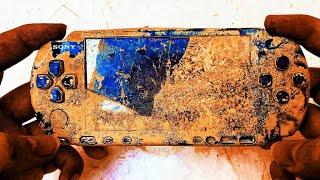 Restoration old broken Japanese Playstation Gameboy   Retro console PSP 3000 restore & repair