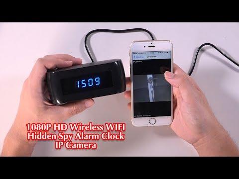 1080P HD Wireless WIFI Hidden Spy Alarm Clock IP Camera
