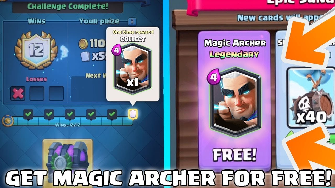 GET THE *NEW* MAGIC ARCHER FOR FREE!? - Clash Royale - NEW UPDATE DETAILS