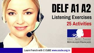 DELF A1 A2 Listening 25 Activities Practice online - French Listening Practice for Beginners