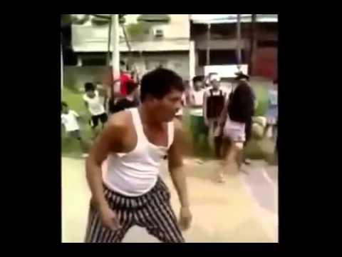 street-fight-philippines-with-knives-stabs-man