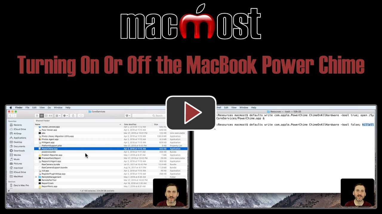Turning On Or Off the MacBook Power Chime