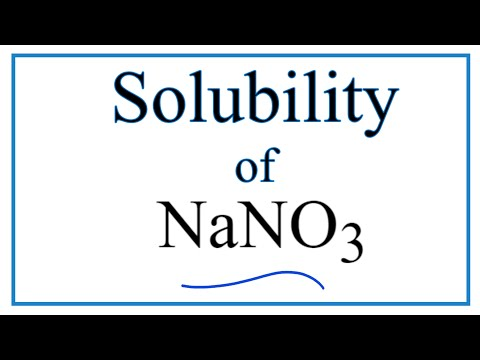 Is NaNO3 Soluble Or Insoluble In Water?