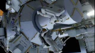 STS-133: EVA-1 (time lapse) [with overview]