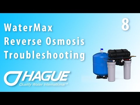 WaterMax H3500 RO Troubleshooting (Part 8) - Filter Change