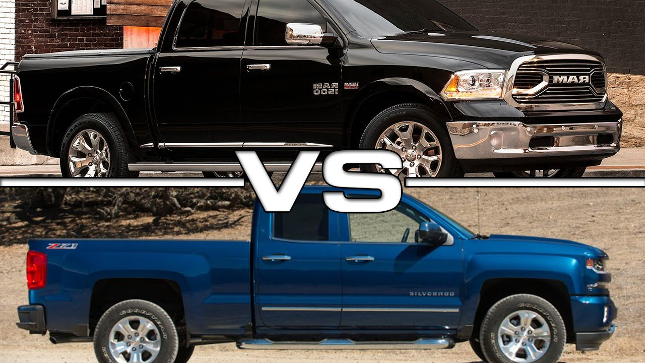 2016 Dodge RAM 2500 vs 2016 Chevrolet Silverado 1500 - YouTube